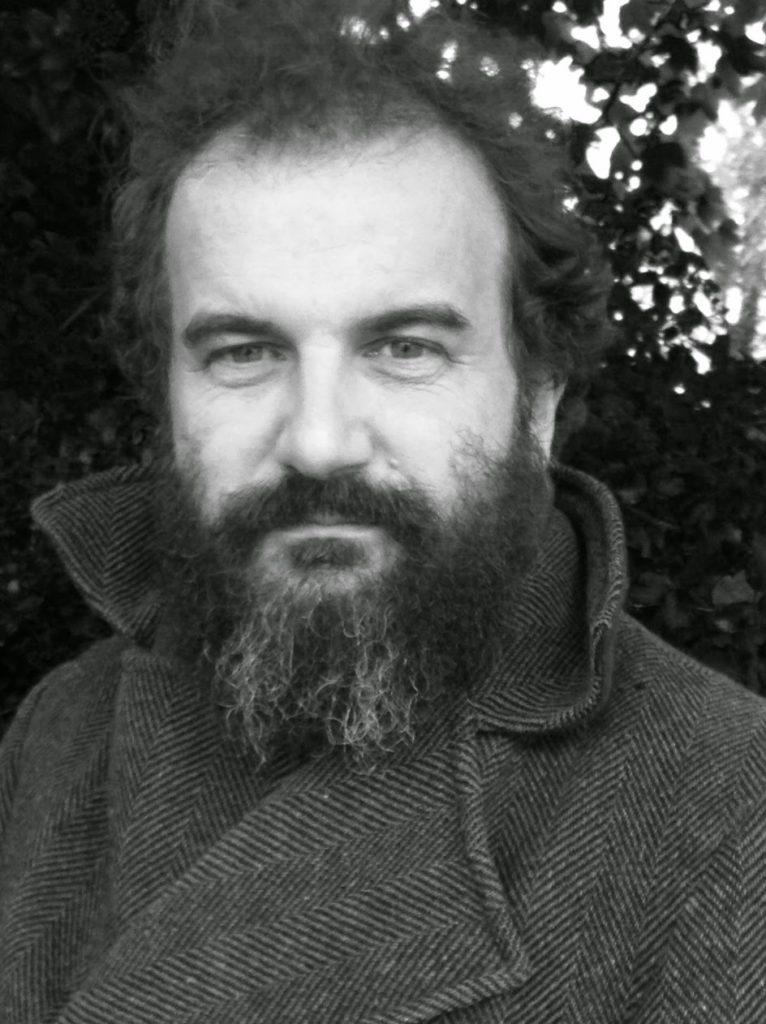 Martin Shaw black and white photo.