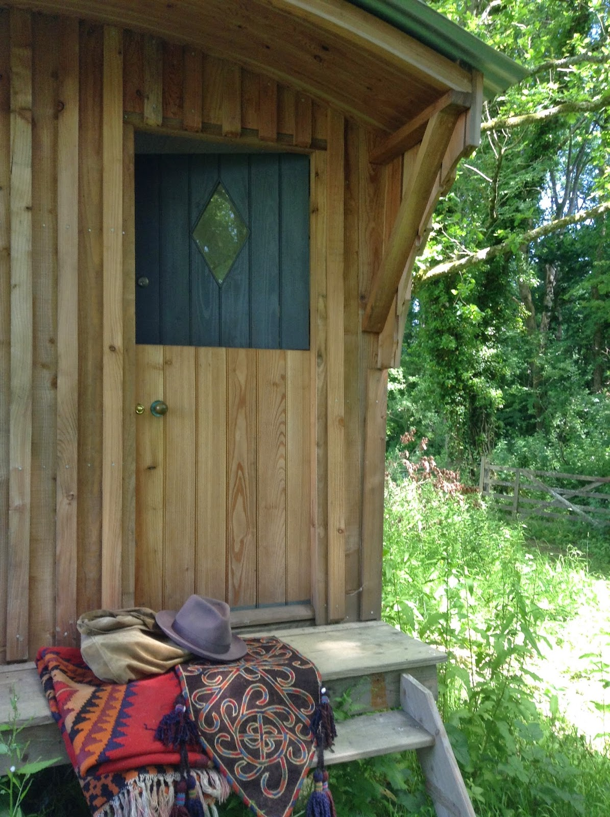 hut porch ready to travel