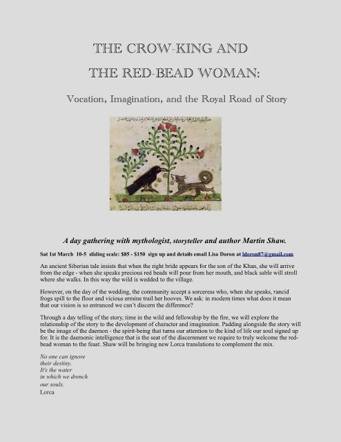 Crow King and Red Bead Woman day even flyer.