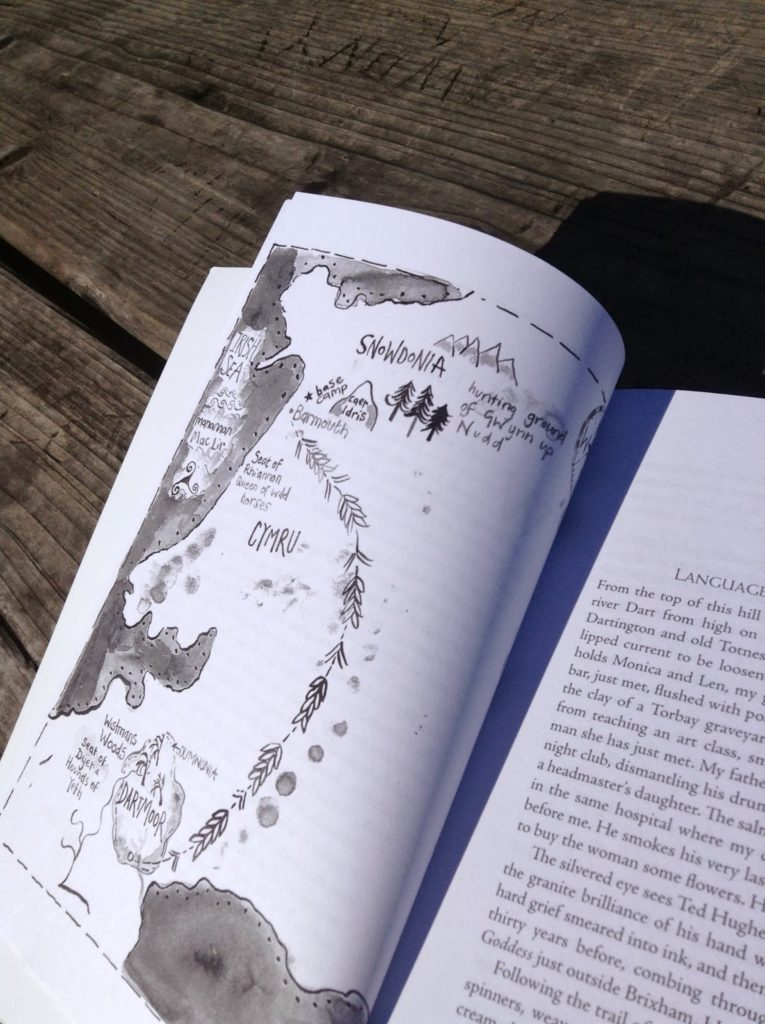 Page open to Snowy Tower map.
