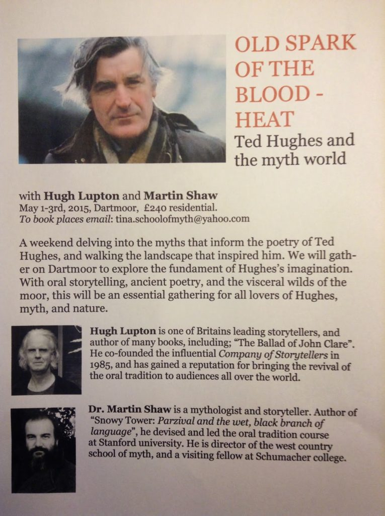 Hugh Lupton and Martin Shaw Ted Huges Weekend Flyer