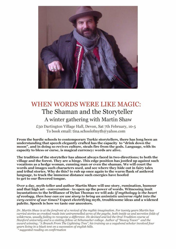 When Words Were Like Magic Flyer Martin Shaw